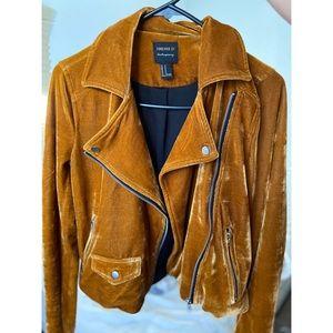Rusted orange velvet motor jacket